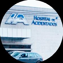 imagem da fachada do Hospital de Acidentados