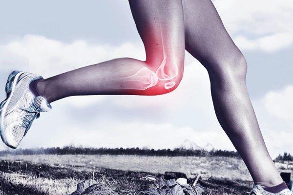 imagem de um joelho sinalizando em vermelho dor crônica